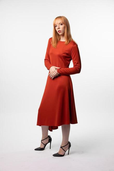 Orange Asymmetrical Dress