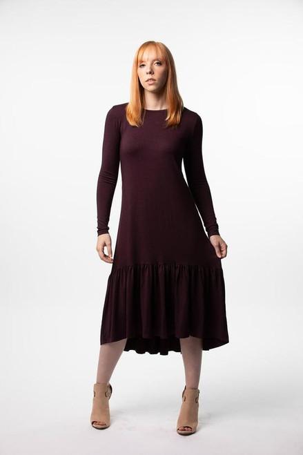 High Low Dress Thin Rib