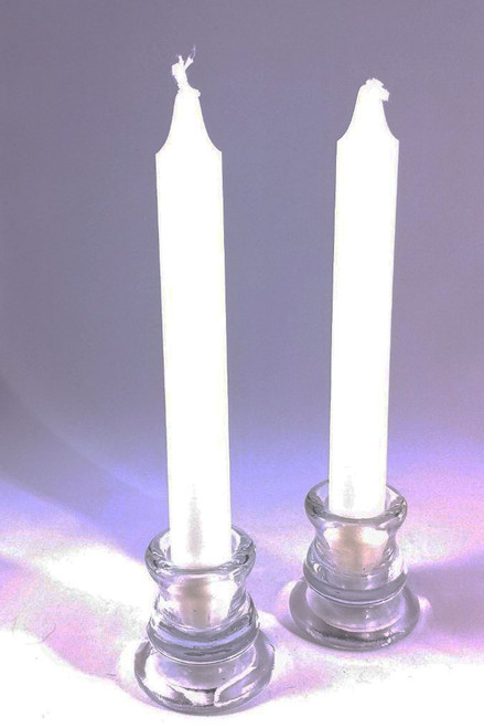 "White Crown candle (Kronelys) 2.5cm/20cm (1""/8"")"