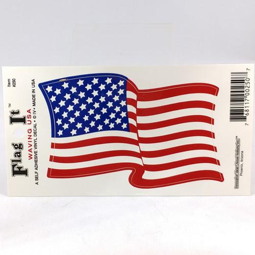 USA waving flag car sticker