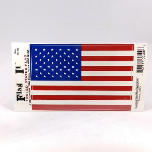 USA rectangular flag car sticker
