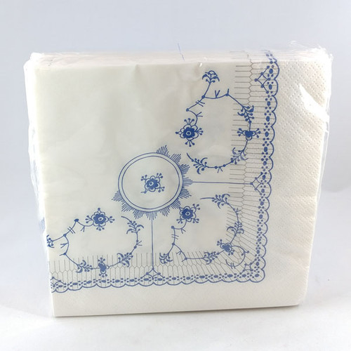 Blue Fluted Napkins