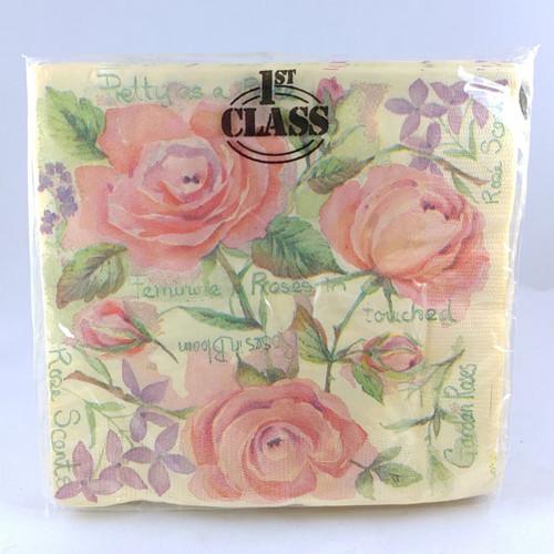 Flora Danica pattern napkins