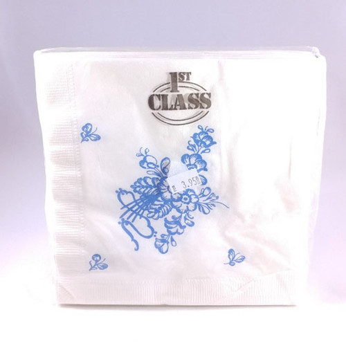Blue Flower pattern napkins