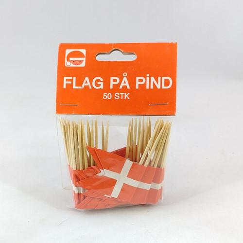 Dannebrog toothpick flags 10 per bag