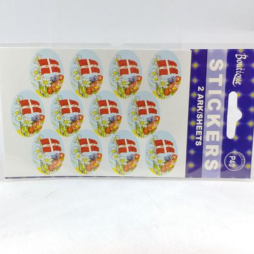 Dannebrog scene sticker 12 stickers per sheet 2 sheet