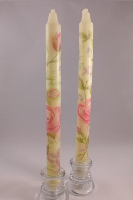 "Classic Flora Danica pattern candles  2.3cm/24cm (1""/9.5"")"