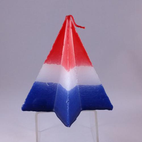 "Festive USA star shaped candle 13cm/13cm (5""/5"")"