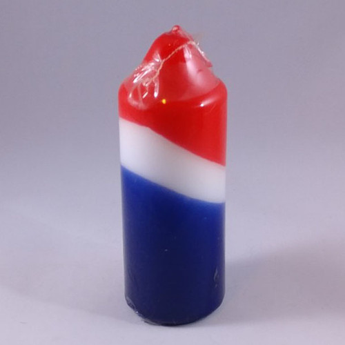 "Festive USA pillar shaped candle 5cm/14cm (2""/5.5"")"