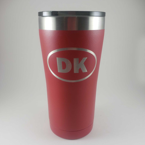 Insulated red Dannebrog cup with DK decal (20 oz)