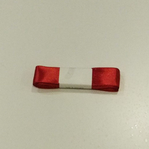 "Wide red silk ribbon 25mm x 5m (1"" x 1.5 yrd)"