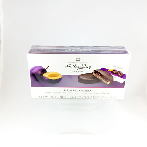 Plum in Madeira - Chocolate Covered Marzipan - 8oz (220g)
