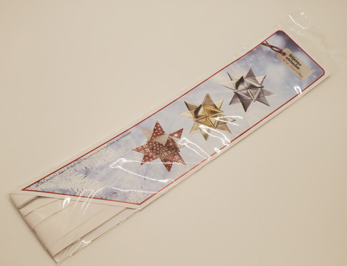 Classic white paper strips for weaving stars 48 strips 15mm
