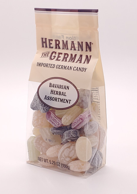 NEW - Imported German Hard Candy - Bavarian Herbal Assortment - 5.29oz (150g)