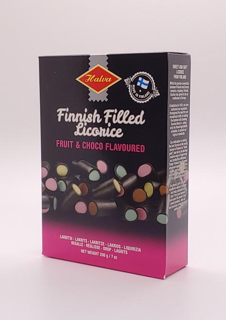 Finnish Filled Licorice, Fruit & Choco (Lakrids) - 200g (7oz)