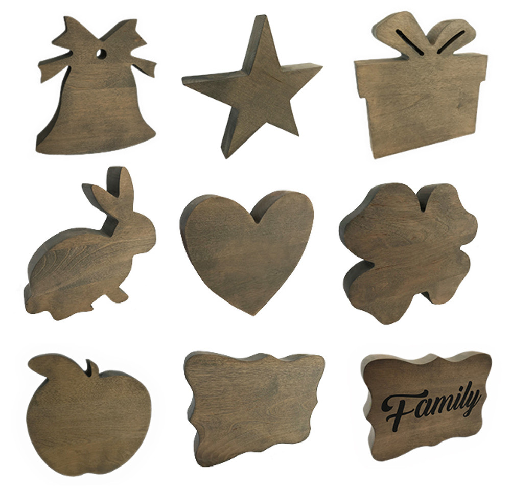 Additional Toppers (Bell, Gift, & Heart Topper Included)