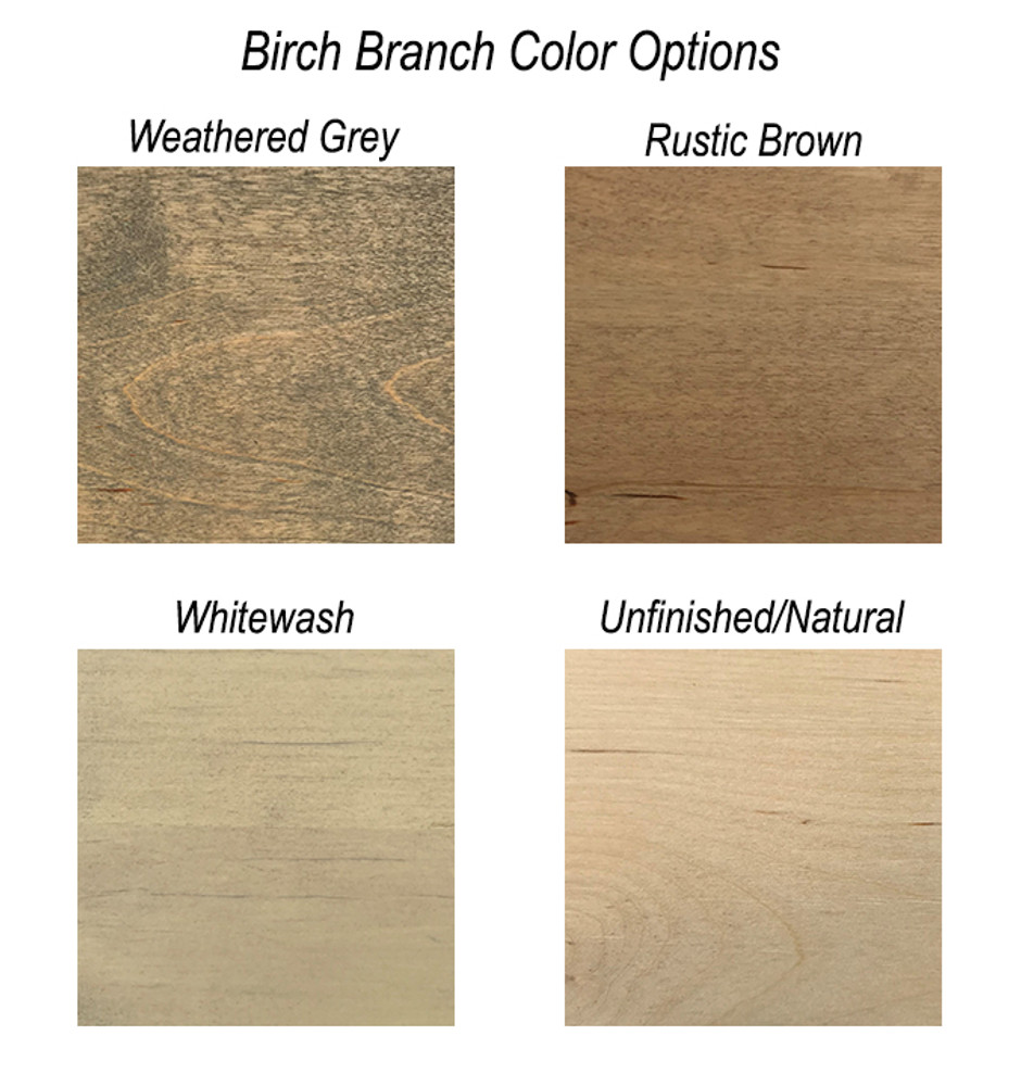 Birch Branch Topper Color Options
