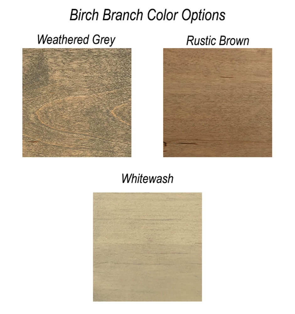 Birch Branch Heart Topper Color Options