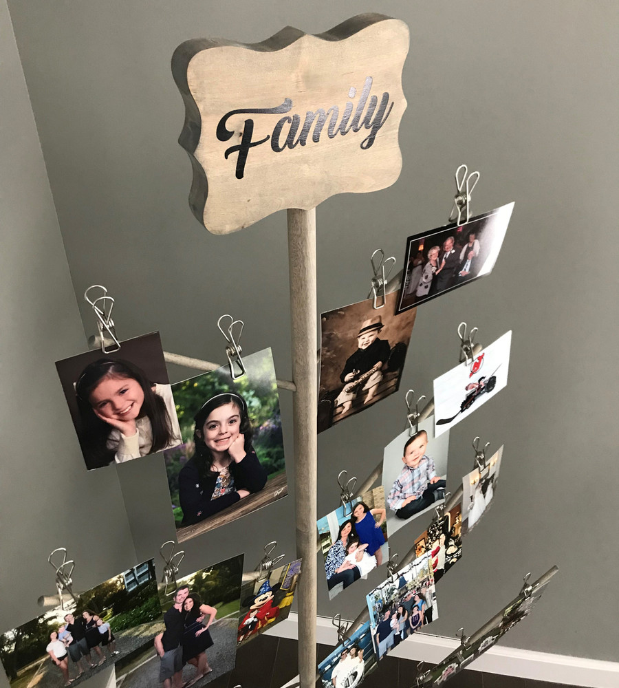 Family Photo Tree Closeup