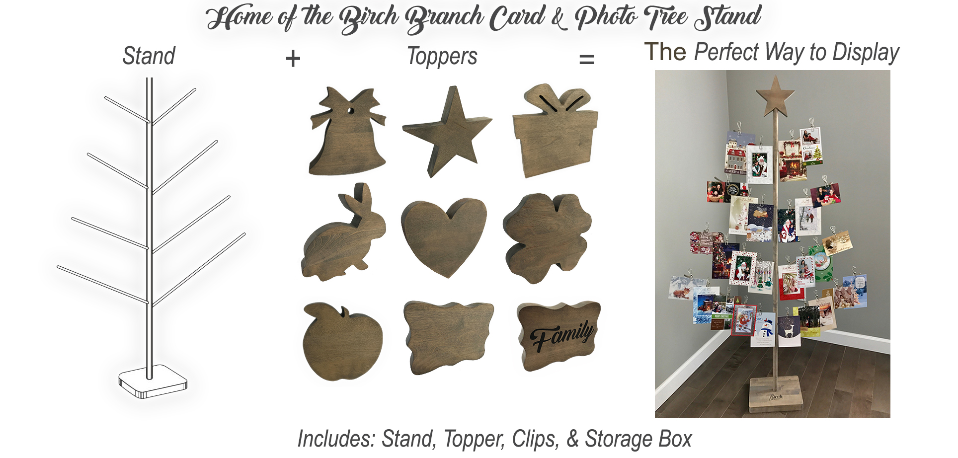 Christmas Card Holder Stand