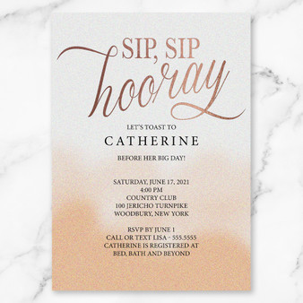 Sip Sip Horray Bridal Shower (as low as $1.48)