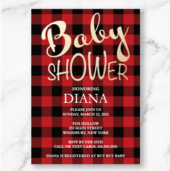 Flannel Baby Shower (as low as $1.50)