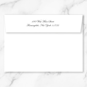 A7 Envelope Return Address