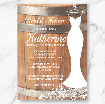 Rustic Keg Bridal Shower (as low as $1.48)