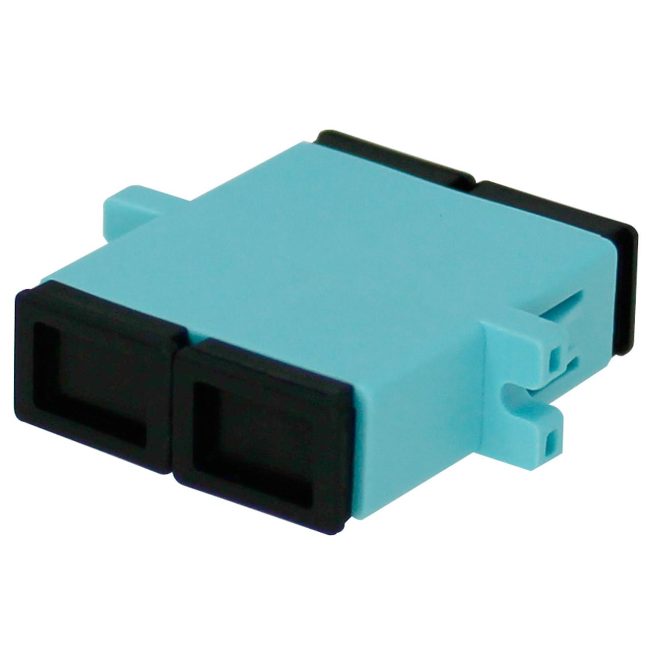 CPL-SCSC-DM-10G SC to SC Fiber Coupler, Duplex, Multimode, 10G OM3,  P B (Phosphor Bronze) Sleeve