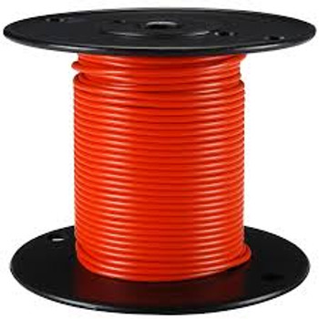 Stranded Copper Wire - 16 AWG - 100' - ORANGE