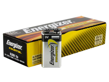 Energizer EN22 Industrial 9V Alkaline Batteries, Box of 24