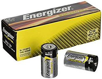 Energizer EN93 Industrial C Cell Batteries, 12 per Box