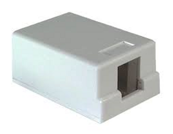 1-port White Surface Mount Box