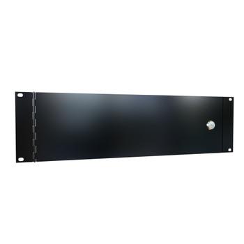 3U Hinged Rack Access Panel - Black