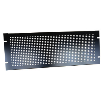 4U Perforated Steel Black Rack Panel