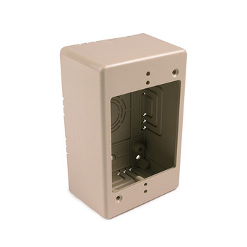 "Single Gang Junction Box, 2"" Deep, PVC, Ivory"