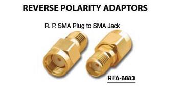RFA Adapter, SMA Reverse Plug to SMA Jack