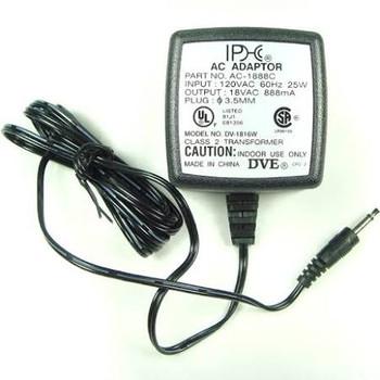 18 VAC 880mA AC-to-AC Power Supply - 16VA Max Transformer - 3.5mm Plug