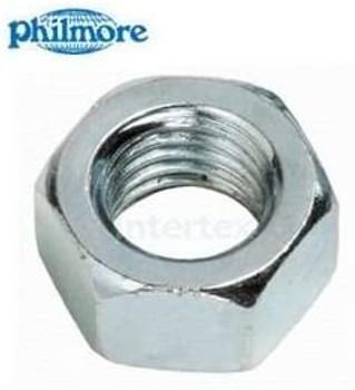 """Steel Hex Nut 6-32 x 1/4"""" Zinc (40pcs)"""