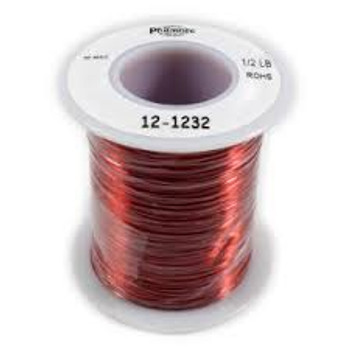 Solid Enamel Coated Magnet Wire 32 Gage 1/2lb