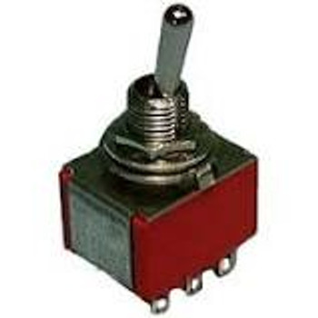 3PDT, ON-ON, Miniature Toggle Switch