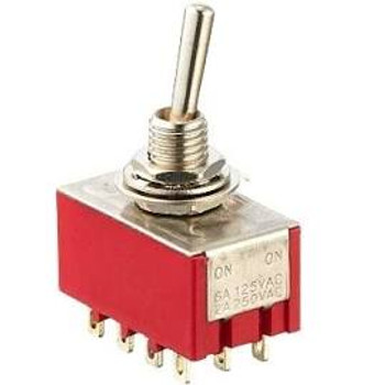 4PDT, ON-ON, Mini Toggle Switch