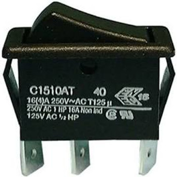 SPDT, (ON)-OFF-(ON), Standard Size Rocker Switch