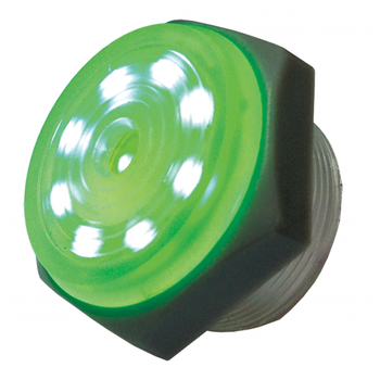 3-15V DC Green LED Lighted, Intermittent Piezo Sounder ~ 95dB