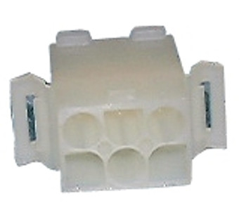 6-Circuit Panel Mount .093-in Plug Housing