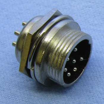 7-pin Male Chassis Mount Connector