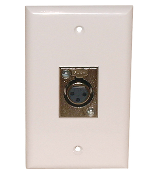 1 Gang 3 Pin XLR Female Plate-White