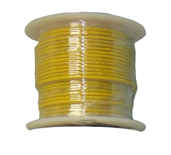 Solid Core Copper Wire - 22 AWG - 100' - YELLOW