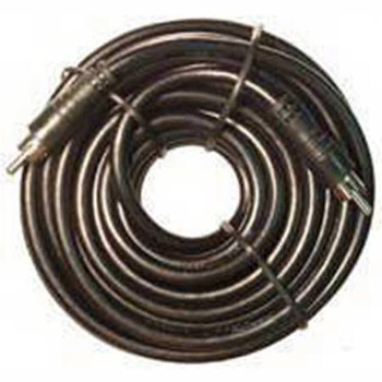 Black RG59 25' Video Cable w/ Molded RCA Type Connectors