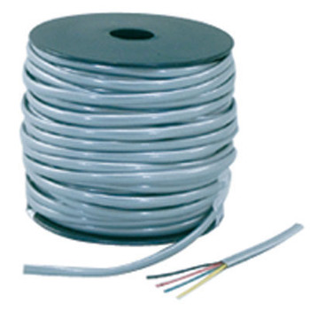 Non-UL 26 AWG 6-Cond Flat Silver Satin 1000ft